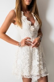 6672a71769 sukienka w kolorze ecru jakie dodatki - stylowo i modnie z Allani