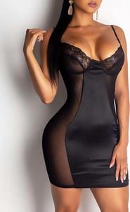 Czarna sukienka Kendallme na ramiączkach dopasowana