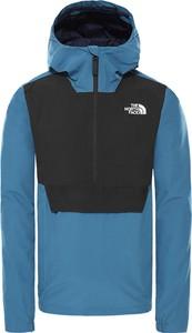 Niebieska kurtka The North Face krótka w sportowym stylu