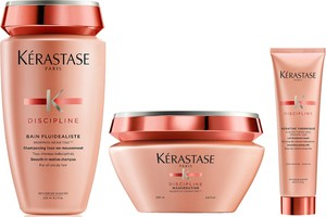 Kerastase Kérastase Fluidealiste | Zestaw dyscyplinujący włosy: kąpiel 250ml + maska 200ml + mleczko termiczne 150ml