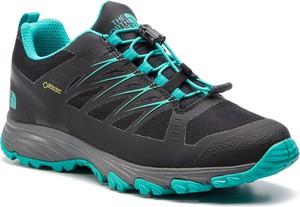 Granatowe buty sportowe The North Face sznurowane w sportowym stylu z goretexu