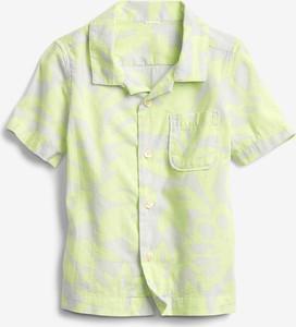 Żółta koszula dziecięca Gap z bawełny