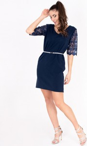Niebieska sukienka ELEONORA PORTERA mini