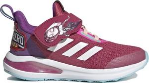 Różowe buty sportowe dziecięce Adidas sznurowane