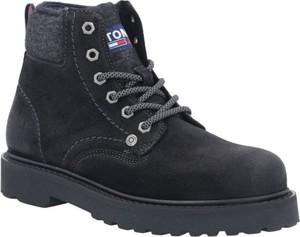Czarne buty zimowe Tommy Jeans