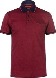 Bordowa koszula Pierre Cardin z krótkim rękawem
