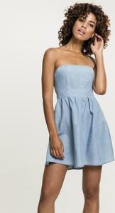 Niebieska sukienka Urban Classics z jeansu mini