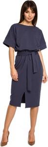 Sukienka BeWear z krótkim rękawem midi