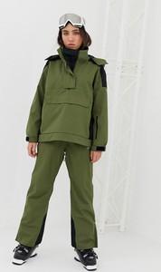 Zielone spodnie sportowe Asos w sportowym stylu z tkaniny