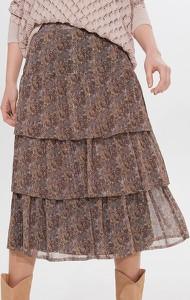 Brązowa spódnica Mohito w stylu boho midi