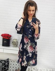 Sukienka Dstreet z długim rękawem z żabotem