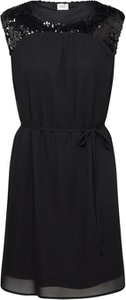 Czarna sukienka JACQUELINE DE YONG mini bez rękawów prosta