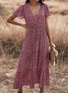 Sukienka Sandbella z dekoltem w kształcie litery v midi
