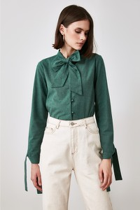Zielony t-shirt Trendyol