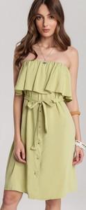 Zielona sukienka Renee midi w stylu casual
