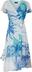 Sukienka Poza z krótkim rękawem mini z tkaniny