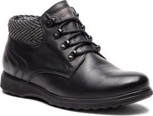 Czarne buty zimowe Krisbut w stylu casual
