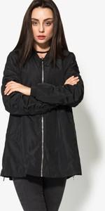 Czarna kurtka Confront w młodzieżowym stylu długa