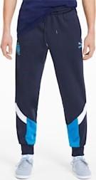 Niebieskie spodnie sportowe Puma z bawełny