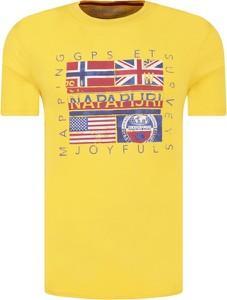 T-shirt Napapijri z krótkim rękawem w młodzieżowym stylu