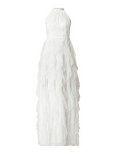 Sukienka V.m. z tiulu z dekoltem w kształcie litery v bez rękawów