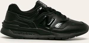 Czarne buty sportowe New Balance sznurowane ze skóry z płaską podeszwą