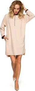 Sukienka MOE oversize z długim rękawem