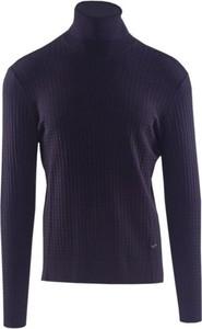 Niebieski sweter Emporio Armani w stylu casual