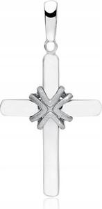 Shymi.pl Wisior zawieszka srebrna 925 krzyż rodowany męski