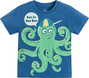 Niebieska koszulka dziecięca Cool Club z bawełny dla chłopców
