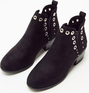 03e772d1e5e46 Granatowe buty zamszowe, kolekcja wiosna 2019