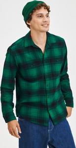 Zielona koszula Gap z klasycznym kołnierzykiem w stylu casual