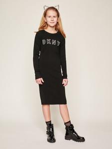 Czarna sukienka dziewczęca DKNY