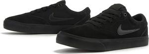 Czarne trampki Nike ze skóry z płaską podeszwą