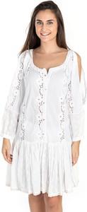 Sukienka Sigris Moda z okrągłym dekoltem mini