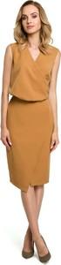 Sukienka MOE asymetryczna midi bez rękawów