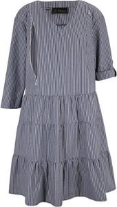Sukienka bonprix szmizjerka w stylu casual z długim rękawem