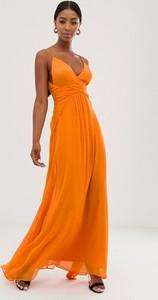 Pomarańczowa sukienka Asos na ramiączkach
