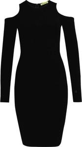 Sukienka Versace Jeans z długim rękawem dopasowana mini