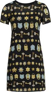 Sukienka Versace Jeans w stylu casual z okrągłym dekoltem midi