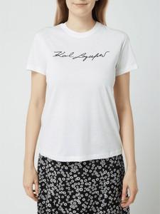 T-shirt Karl Lagerfeld w młodzieżowym stylu z okrągłym dekoltem z krótkim rękawem