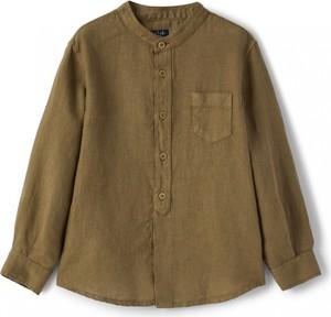 Zielona koszula dziecięca Il Gufo dla chłopców