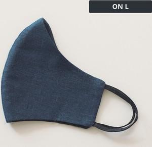 Acme Lniana męska maseczka ochronna wielorazowa ergonomiczny kształt nasycony granat On L