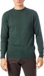 Zielony sweter Brian Brome z bawełny