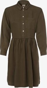 Sukienka Only z kołnierzykiem z długim rękawem mini
