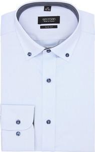 Błękitna koszula recman z długim rękawem
