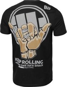 Czarny t-shirt Pit Bull z krótkim rękawem