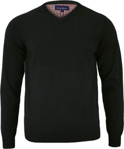 Czarny sweter Adriano Guinari z bawełny w stylu casual