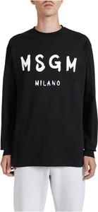 Czarny t-shirt MSGM w młodzieżowym stylu