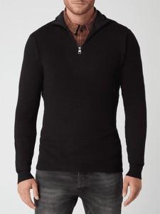 Czarny sweter Esprit w stylu casual z kaszmiru ze stójką